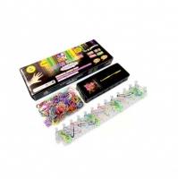 Набор для плетения  Rainbow Loom Bands 600 резиночек