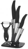 Набор керамических ножей 3 + овощечистка с подставкой