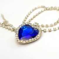 Ожерелье сердце океана с цепочкой