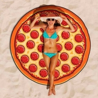 "Круглое пляжное полотенце ""Пицца"" (150х150 см)"