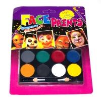 Детские краски для лица, аквагрим на 8 цветов