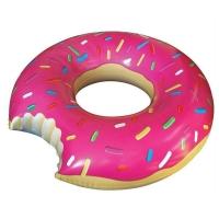 Надувной круг Пончик 120x120 (Розовый)