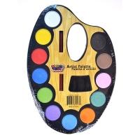 "Краски акварельные ""Artist palette"", 12 цветов"