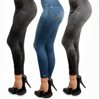 Леджинсы Slim Jeggins утепленные с карманами комплект из 3-х цветов S-M