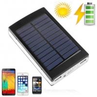 АКЦИЯ! Внешний акуумулятор Power bank 8000 Mah с солнечной батареей и фонарем