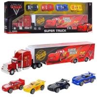 Набор машинок Тачки фура грузовик мак + 4 машинки