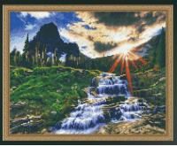 Алмазная мозаика 40х50 Горный ручей