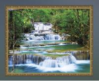 Алмазная мозаика 40х50 Каскадный водопад
