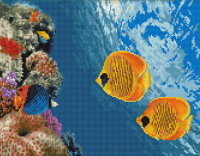 Алмазная мозаика 40х50 Коралловый риф