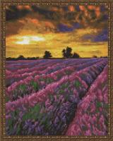 Алмазная мозаика 40х50 Лавандовое поле на закате