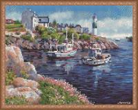 Алмазная мозаика 40х50 Морская бухта