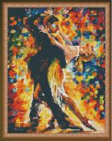 Алмазная мозаика 40х50 Танец в листопаде