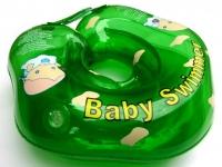 Надувной круг на шею для купания Baby Swimmer Зеленый