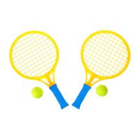 Бадминтон Крутой теннис набор 2 ракетки 2 шарика