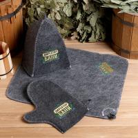 Банный набор шапка, коврик и рукавица Директору бани! Горячего пара