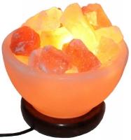 Солевая лампа Ваза с камнями 2 - 3 кг