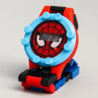 Детские часы наручные лего Человек-паук, с ремешком-конструктором