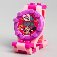 Детские часы наручные лего Минни Маус, с ремешком-конструктором