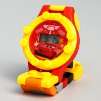 Детские часы наручные лего Тачки, с ремешком-конструктором