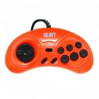 Dendy (Денди) Controller джойстик (форма Sega) 9р узкий разъем. Orange
