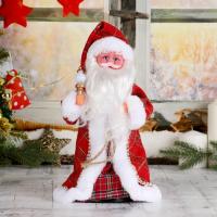 Дед Мороз С посошком и подарками двигается, с подсветкой
