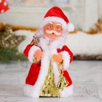 Дед Мороз, в кучерявой шубке, с подсветкой, двигается