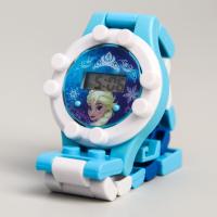 Детские часы наручные лего Холодное сердце, с ремешком-конструктором
