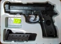 Детский пневматический металлический пистолет С18А+ Beretta