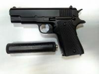 Детский пневматический металлический пистолет V2 глушитель