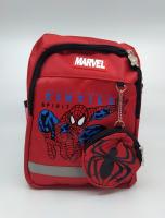 Детский рюкзак человек паук с кошельком красный