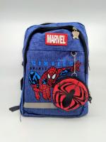 Детский рюкзак человек паук с кошельком синий