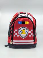 Детский рюкзак тачки красный