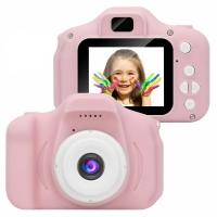 Детский цифровой фотоаппарат GBS-Kids розовый АКЦИЯ!