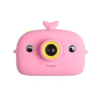 Детский цифровой фотоаппарат X12S дельфин Розовый