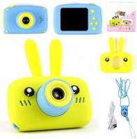 Детский цифровой фотоаппарат X500 зайка желтый