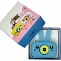 Детский цифровой фотоаппарат X500 зайка голубой