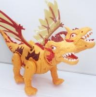 Динозавр двухголовый с крыльями проектор