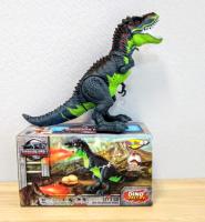 Динозавр огнедышащий, ходит, свет и звук