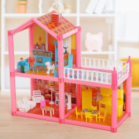 Дом для кукол, двухэтажный, с аксессуарами