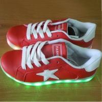 Кроссовки со светящейся LED подошвой (красные, 39, звезда)