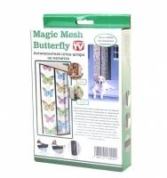 Москитная сетка с бабочками на 18 магнитах Magic Mesh Butterfly (Меджик Меш Баттерфлай)