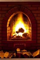 Настенный инфракрасный пленочный обогреватель-картина Камин