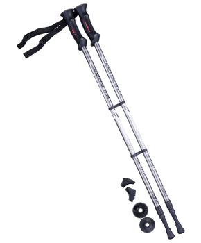 Палки для скандинавской ходьбы Longway, 77-135 см, 2-секционные