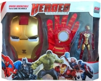 Игровой набор Мстители (Железный человек: маска, перчатка, фигурка)
