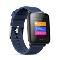 Фитнес браслет Hello Q9 smart bracelet (комплект из 2-х ремешков черный и синий)