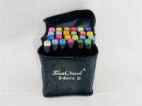 Фломастеры маркеры для скетчинга в чехле 24 цвета
