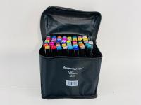 Фломастеры маркеры для скетчинга в чехле 48 цветов