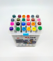 Фломастеры маркеры для скетчинга в кейсе 24 цвета