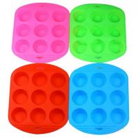 Форма силиконовая для кексов и маффинов 9 шт