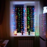 Гирлянда Занавес 160-180, 1,5 х 1,5 м, LED, прозрачная